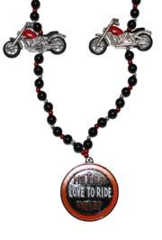 Motor bike Mardi Gras Beads