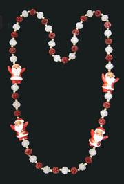 Santa Clause Mardi Gras Beads